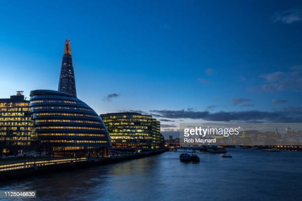 the shard and riverside in london - magazine cover stock pictures, royalty-free photos & images