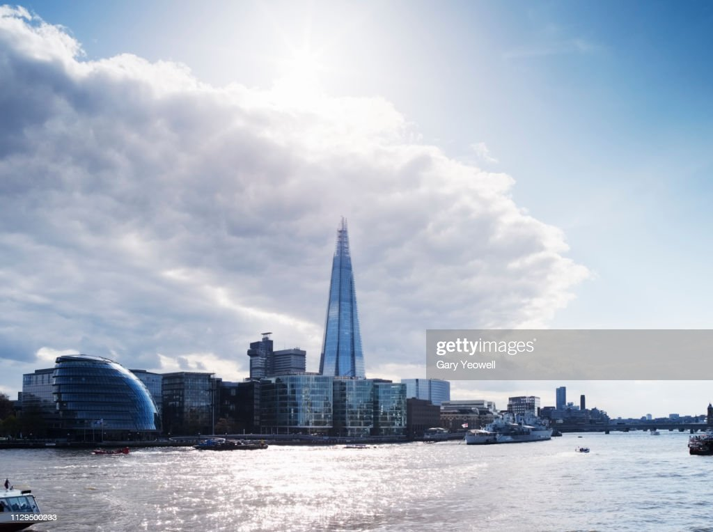 The Shard and Southbank in London : ストックフォト
