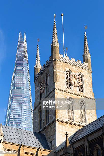 The Shard and Southwark Cathedral, London