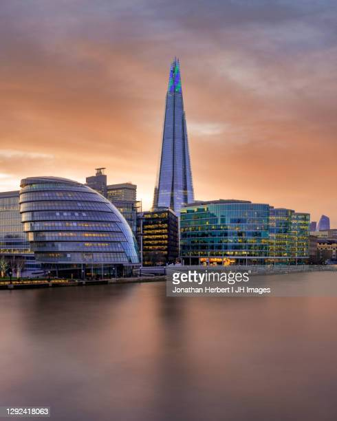 the shard at sunset - guildhall london stock pictures, royalty-free photos & images