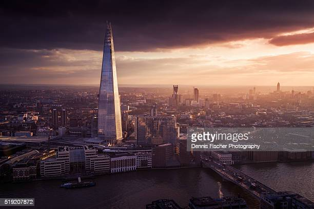 The Shard London sunset view