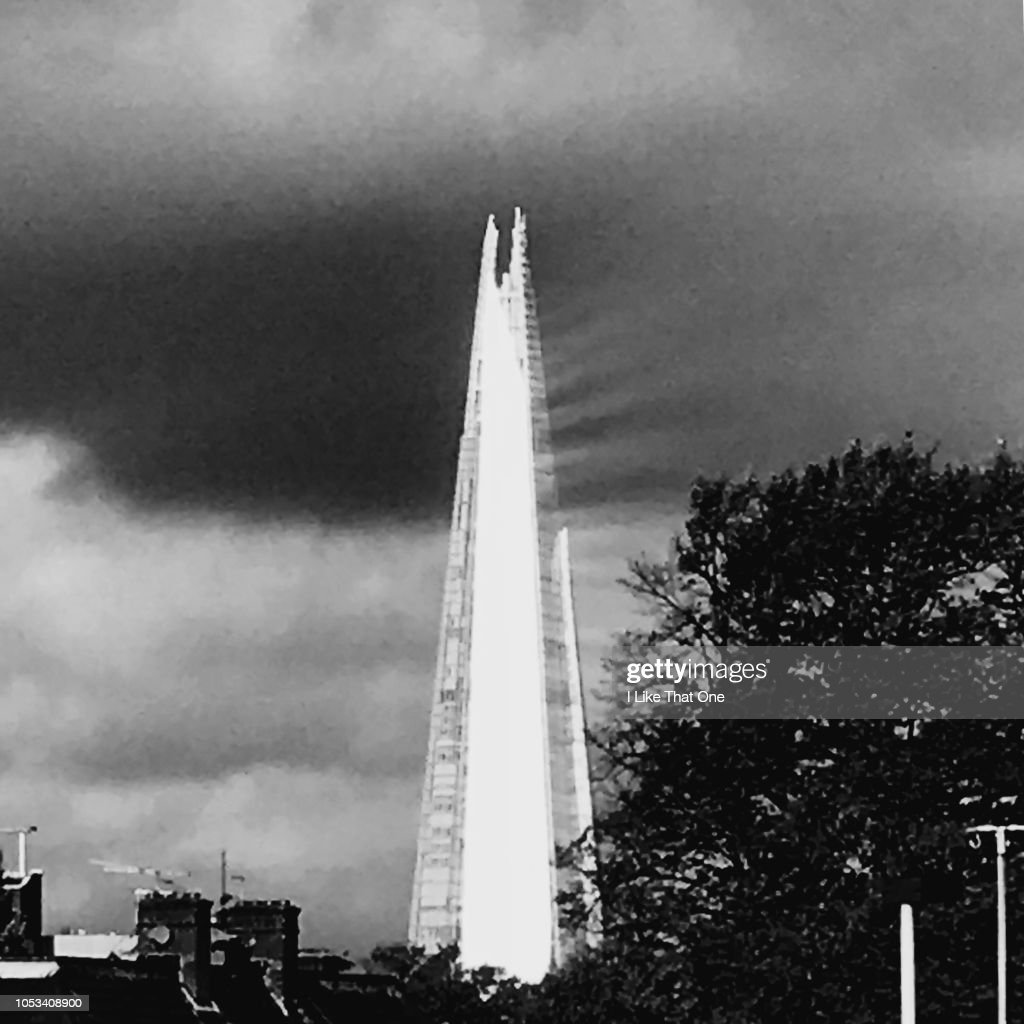 The Shard Reflects the Sun : Stock Photo