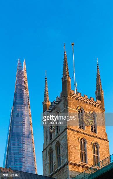 The Shard skyscraper and Southwark Cathedral