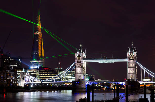 """The Shard Skyscraper Opening Laser Show, London"" Wall Art"