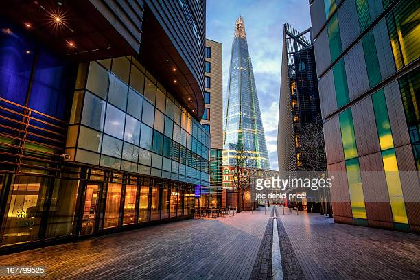 the shard, south bank, london, england - shard london bridge stock pictures, royalty-free photos & images