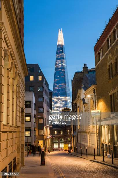 The Shard viewed at dusk, London