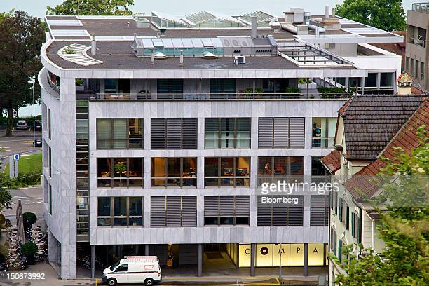 The shared building that houses the headquarters of Xstrata Plc stands in Zug, Switzerland, on Friday, Aug. 24, 2012. Glencore's planned takeover of...