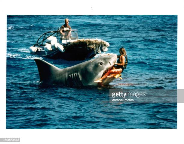 The shark claims a victim on set of the film 'Jaws The Revenge' directed by Joseph Sargent 1987