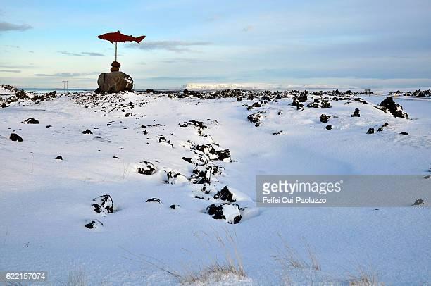 The shark museum Symbol of Bjarnarhofn Snaefellsnes peninsula Iceland