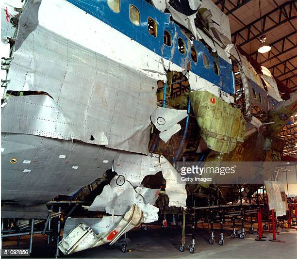 The 'Shatter Zone' Portion Of The Reconstructed Fuselage Of Pan Am Flight 103 Which Exploded Over Lockerbie In 1988 Is On Display January 31 2001 In...