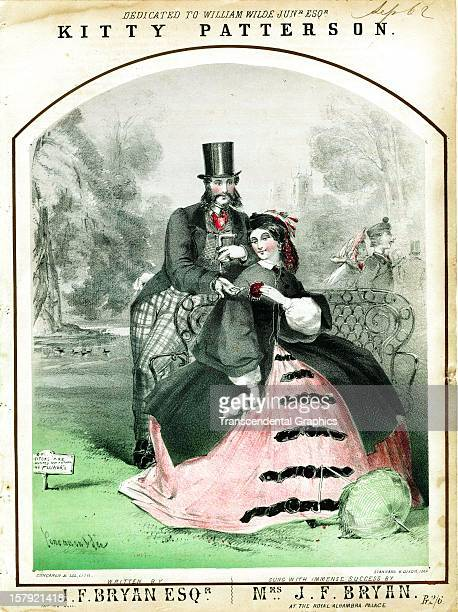 The sheet music entitled 'Kitty Patterson' is published around 1850 in London England