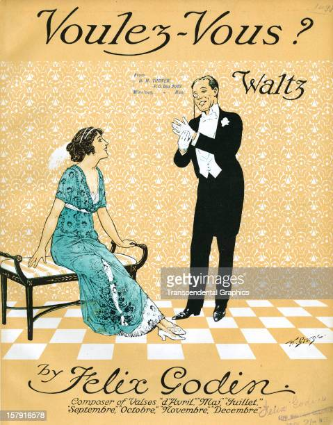 The sheet music entitled 'Voulez Vous' is published around 1910 in London England