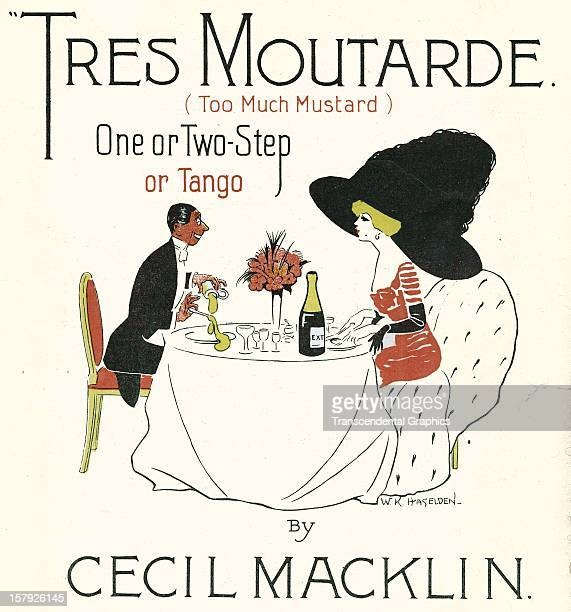 The sheet music 'Tres Moutarde' is published by Cecil Macklint circa 1910 in Paris France