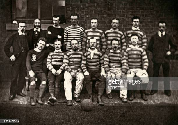 The Sheffield Wednesday Football team, circa April 1878. Back row, left to right: C Hill , William Clegg, Charles Clegg, CL Stratford, J Bingley, E...