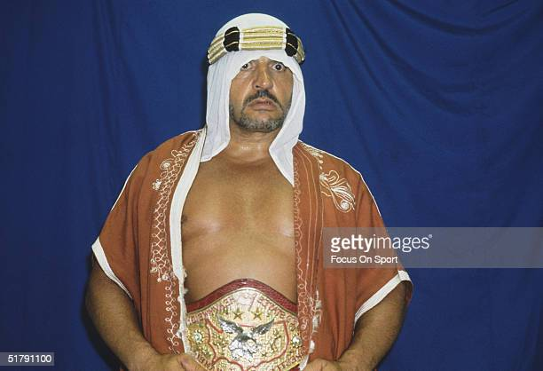 The Sheik a professional wrestler poses for the camera Kosraw Vasori known as the Iron Sheik in the ring won a medal at the 1968 Summer Olympic Games...