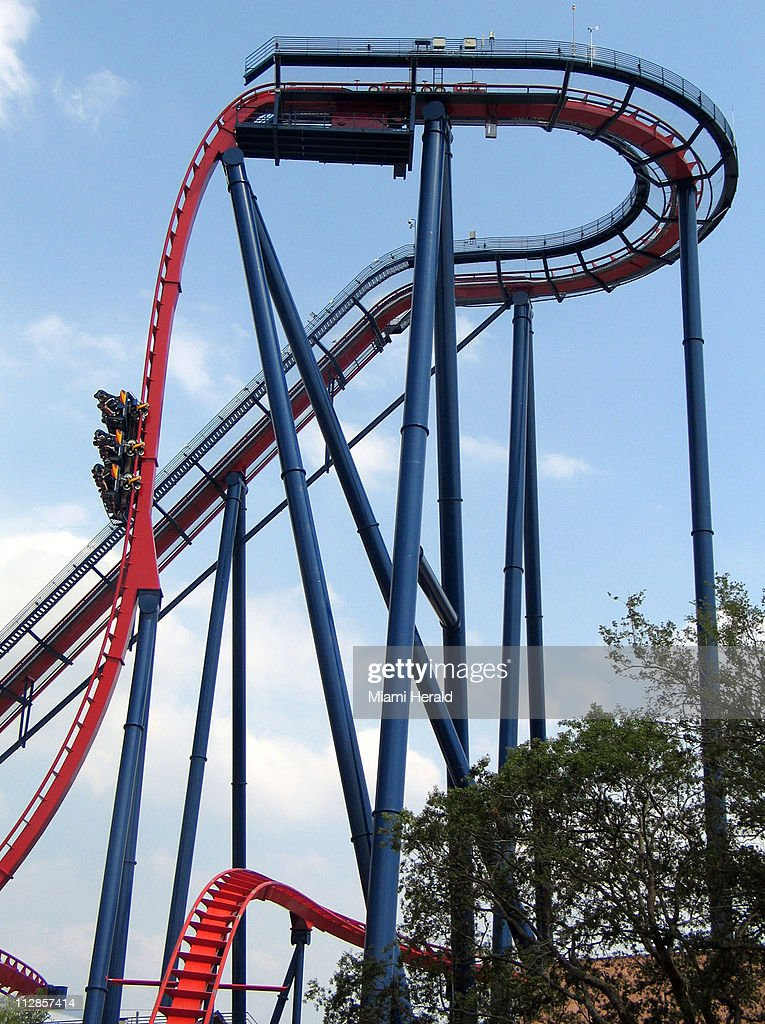 The SheiKra Roller Coaster At Busch Gardens In Tampa, Florida, Has A  Straight Vertical