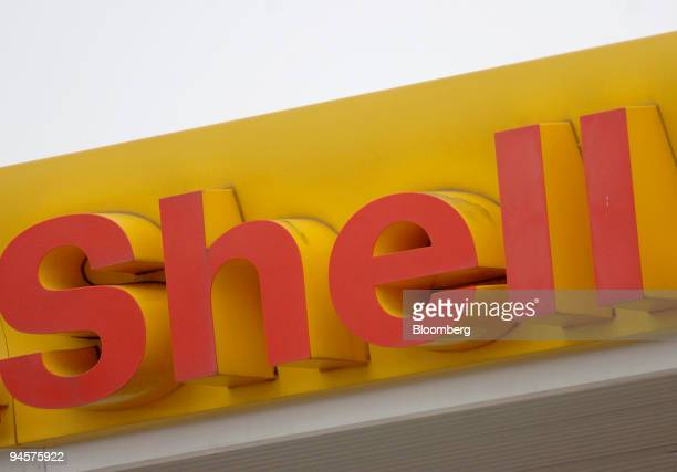 The Shell company logo is displayed at a Shell service station in Kings Lynn Norfolk UK on Thursday Oct 25 2007 Royal Dutch Shell Plc Europe's...