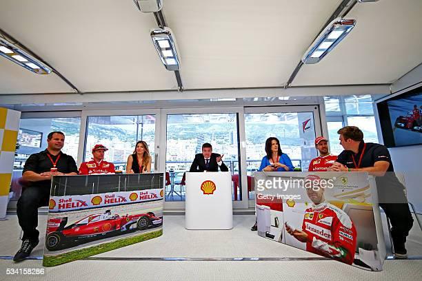 The Shell F1 quiz with host David Croft Sky Sports F1 Ted Kravitz Sky Sports F1 Kimi Raikkonen of Finland and Ferrari Federica Masolin Sky F1 Italy...