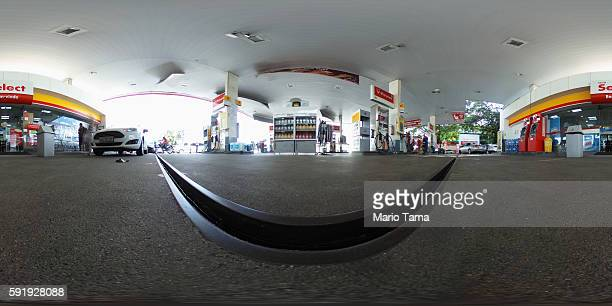 The Shell gas station where four US Olympic swimmers were captured on security video is seen on August 18 2016 in Rio de Janeiro Brazil Ryan Lochte...