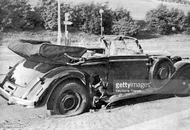 The Shell Of Reinhard Heydrich'S Car The Reich'S Protector Assassinated By Two Members Of The Foreign Czechoslovakian Unit Josef Gabcik And Jan Kubis...