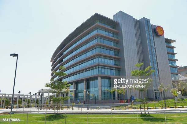 The Shell Technology Centre is seen as it is opened in the Indian city of Bangalore on March 31 2017 Oil giant Shell opened March 31 a hightech...