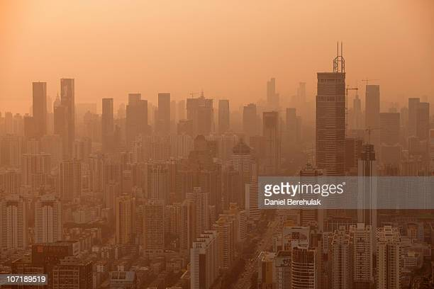 The Shenzhen skyline stretches into the distance on November 28 2010 in Shenzhen China According to the US Commercial Service Shenzhen is one of the...
