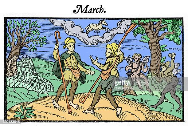 The Shepherd 's calendar, March 1579 by Edmund Spenser. Farmers. The Shepheardes Calender. ES: 1552? - 1599