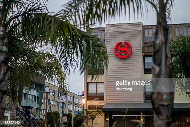 The Sheraton Hotel logo is seen on the facade of a location at Fisherman's Wharf in San Francisco California US on Tuesday Feb 17 2015 Starwood...