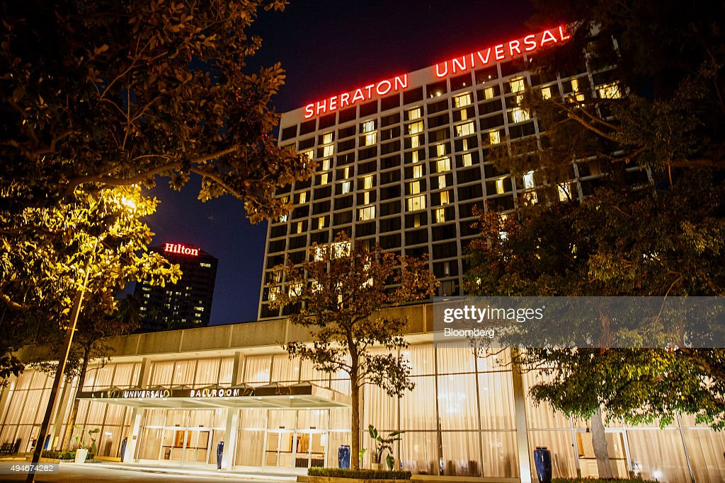 The Sheraton Universal Hotel Stands In City California U S On Monday