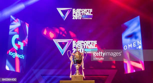The SHERO Invitational's trophy of the ESports Festival 2017 Hong Kong at the Hong Kong Convention and Exhibition Centre on 26 August 2017 in Hong...