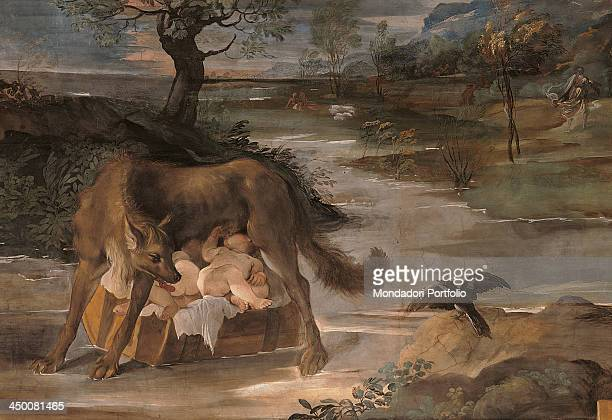 The SheWolf Suckling Romulus and Remus from the 'History of Romulus' Cycle by Annibale Carracci Agostino Carracci Ludovico Carracci 1590 1592 16th...