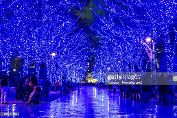 the shibuya blue cave - yoyogi tokyo stock photos and pictures