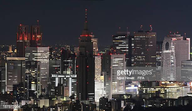 The Shinjuku district at night on December 2 2012 in Tokyo Japan
