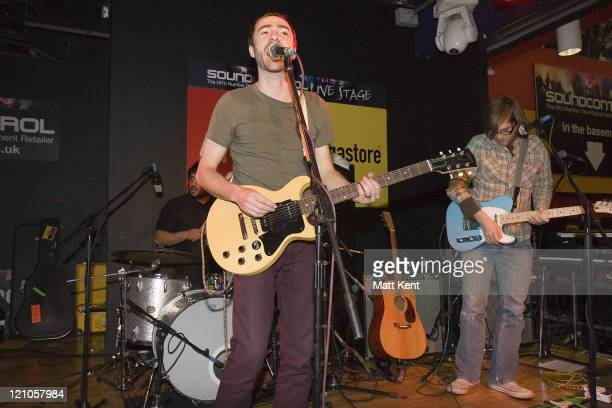 The Shins during The Shins Instore Performance and Signing at Virgin February 1 2007 at Virgin Megastore in London Great Britain