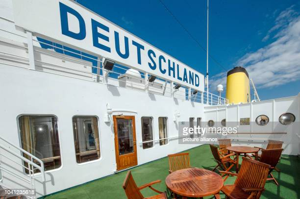 The ship 'MS Deutschland' in Kiel Germany 09 June 2015 The ship made famous by the television series 'Das Traumschiff' takes off today for its last...