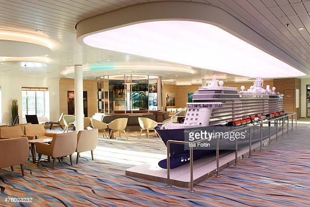 The ship model at the naming ceremony of the cruise ship 'Mein Schiff 4' on June 5, 2015 in Kiel, Germany.