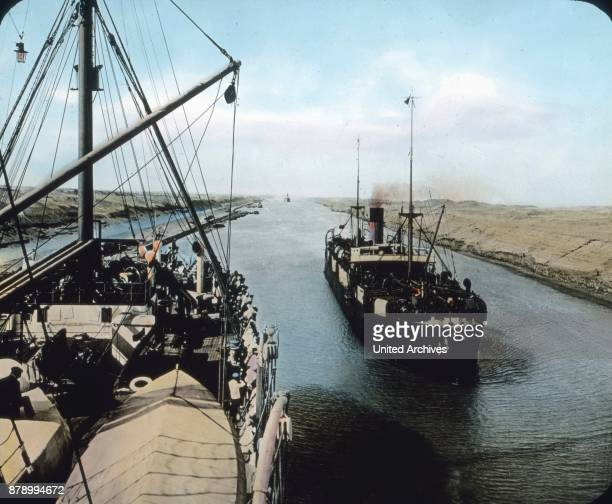 The ship then proceeds to Port Said to pass through the Suez Canal The Suez Canal connects the Mittelland with the Red Sea and separates Africa from...