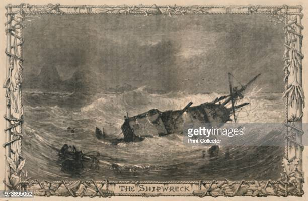The Shipwreck' circa 1870 From The Life and Adventures of Robinson Crusoe by Daniel Defoe [Cassell Petter and Galpin London] Artist Unknown