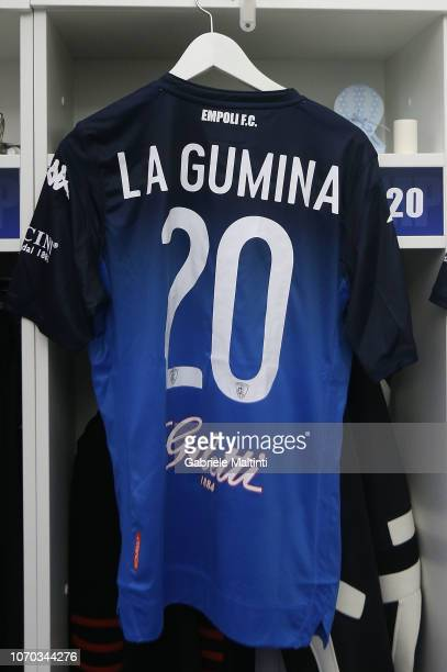 The shirt of Antonino La Gumina of Empoli FC during the Serie A match between Empoli and Bologna FC at Stadio Carlo Castellani on December 9 2018 in...