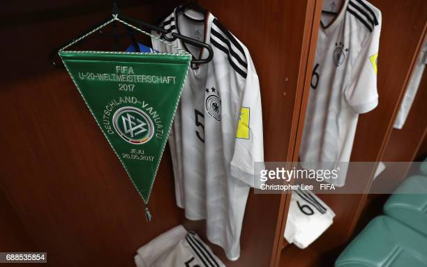 The shirt of Benedikt Gimber of Germany in the changing room during the FIFA U20 World Cup Korea Republic 2017 group B match between Germany and...