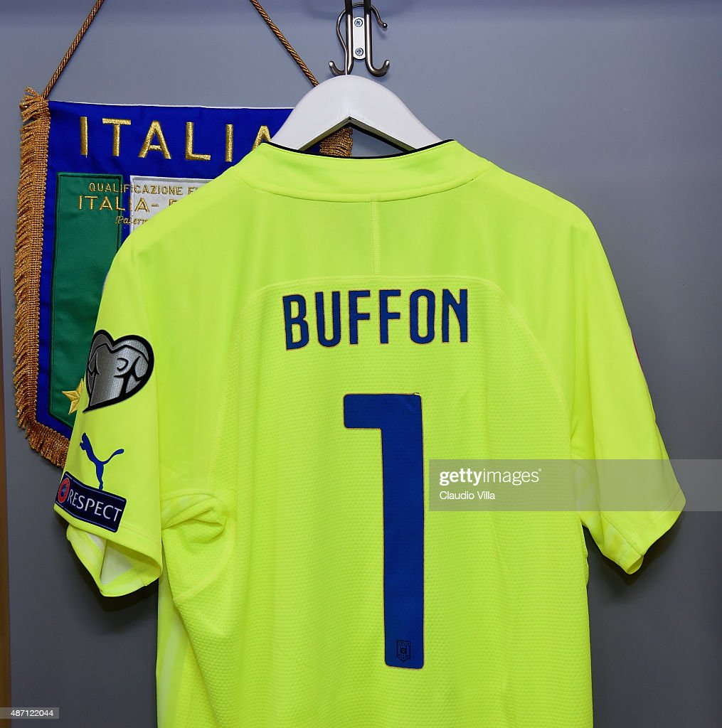 d407c800a The shirt of Gianluigi Buffon of Italy hangs in the home dressing ...