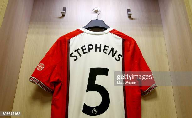 the shirt of Jack Stephens having been prommoted to the number five prior to the preseason friendly between Southampton FC and Sevilla at St Mary's...