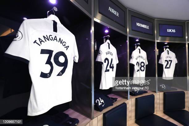 The shirt of Japhet Tanganga of Tottenham Hotspur in the dressing room prior to the Premier League match between Tottenham Hotspur and Wolverhampton...