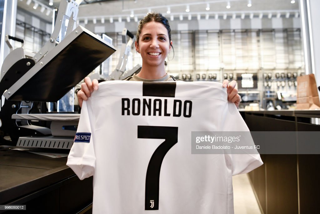 becad94c05a the shirt of juventus new signing cristiano ronaldo is on sale at