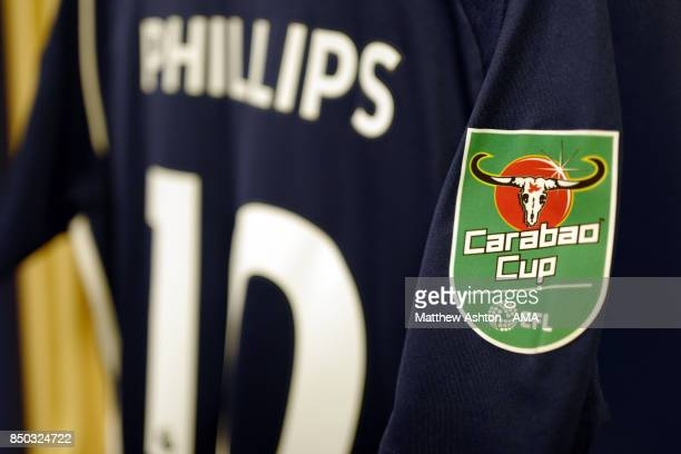 The shirt of Matt Phillips of West Bromwich Albion with Carabao Cup logo prior to the Carabao Cup Third Round fixture between West Bromwich Albion...