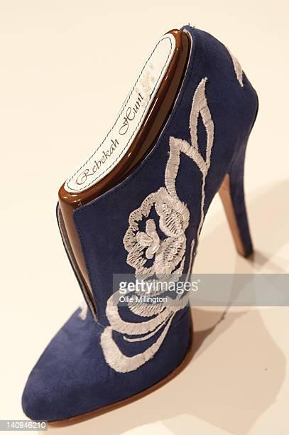 The shoe made from a design by De Montfort University footwear student Becka Hunt that Catherine Duchess of Cambridge picked from a selection of...