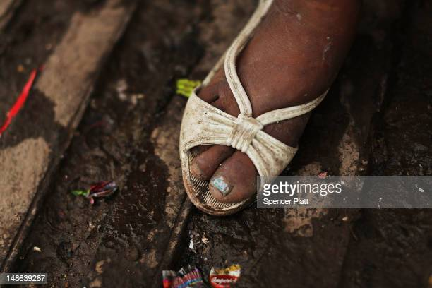The shoe of a young sex worker is viewed in a gang infested neighborhood on July 18, 2012 in Tegucigalpa, Honduras. Honduras now has the highest per...