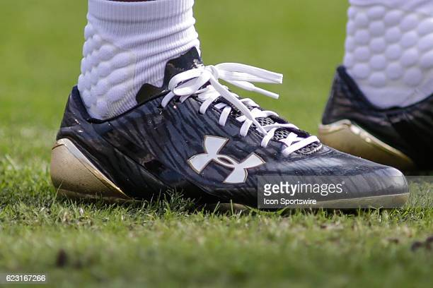 The shoe of Jacksonville Jaguars Wide Receiver Marqise Lee during the NFL game between the Houston Texans and the Jacksonville Jaguars on November 13...