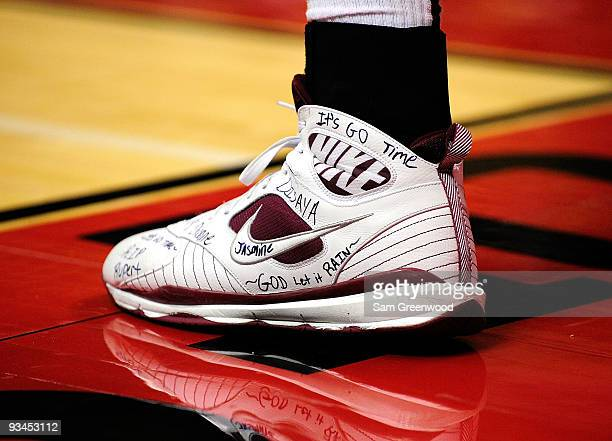 The shoe of Ryan Reid of the Florida State Seminoles during the Old Spice Classic at Disney's Milk House on November 27 2009 in Orlando Florida