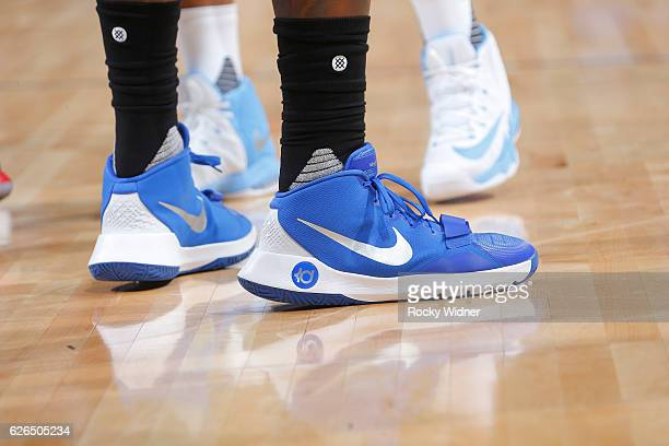 7ecb2af9ebe01b The shoes belonging to DeAndre Jordan of the Los Angeles Clippers in a game  against the